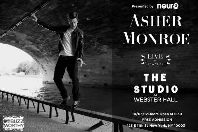 Asher Monroe to play FREE Show in NY